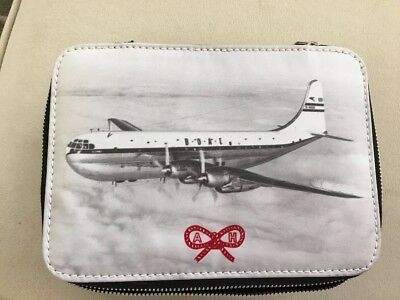 Anya Hindmarch Inflight Zippered Jewelry Box Case Bag BOAC Stratocruiser Vintage