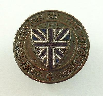 World War I CEF / Canadian Expeditionary Force Service at the Front Enamel Pin