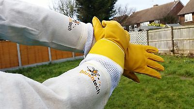 Beekeeper Gloves Bee Gloves Beekeeping gloves Cowhide Ventilated gloves LARGE