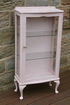 Shabby Chic 1930s Vintage Annie Sloan painted Display Cabinet