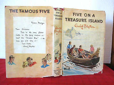 Enid Blyton Famous FIVE ON A TREASURE ISLAND 1952 HCDJ Eileen Soper