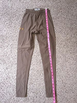 Under Armour Compressions Legging Pants Size Small Tan  Kids  Youth