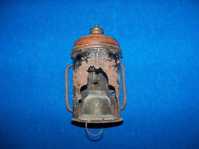 Rare Antique Coal Mine Mining Carbide Lamp Light Whale Oil Font