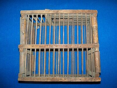 Rare Antique Double Coal Mine Mining Miners Canary Bird Cage