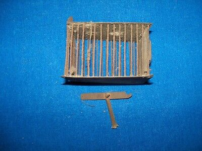 Antique Unusual Miniature Metal Coal Mine Mining Canary Bird Cage