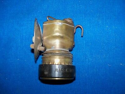 Antique Justrite Brass Coal Mine Mining Miners Carbide Lamp Light Never Used