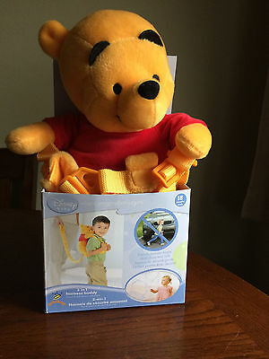 Disney Baby 2 in 1 Saftey Harness - Winnie the Pooh Back Pack BNIB