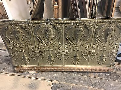 "Antique Tin Ceiling Panel Wall Art Decor Tin Art 29"" X 48"" Tin Ceiling panel"