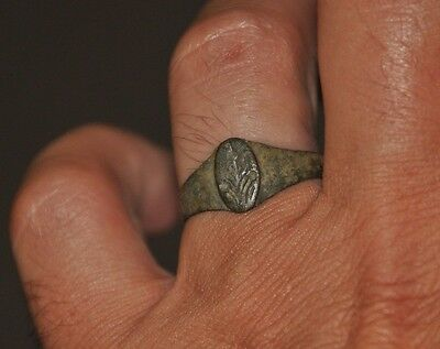 Ancient Authentic Late Roman Empire Legionary Bronze Wearable Ring Size US 10