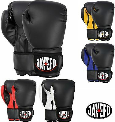 Jayefo ® Beginners Leather Boxing Mma Muay Thai Kick Boxing Sparring Gloves Mma