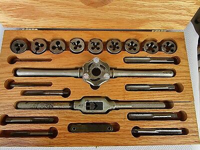 Tap and Die Set (21 Pieces) Wooden Box