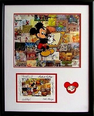 Disney Milestone Mickey 1st Day Release Limited Edition Cel Signed / Pin / Frame