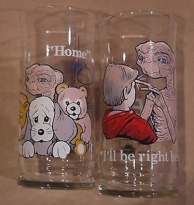 Pizza Hut ET The Extra Terrestrial Home I'll Be Right Here Glasses Set Of 2