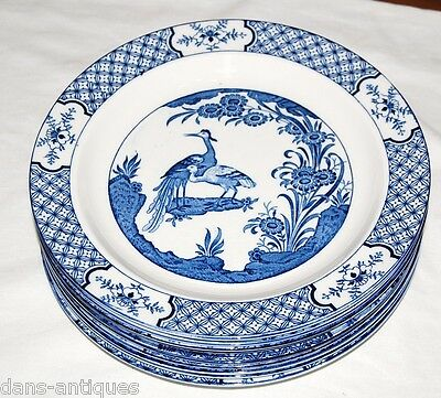 "Wood & Sons England YUAN china  - 10 luncheon plates 9"" diameter"