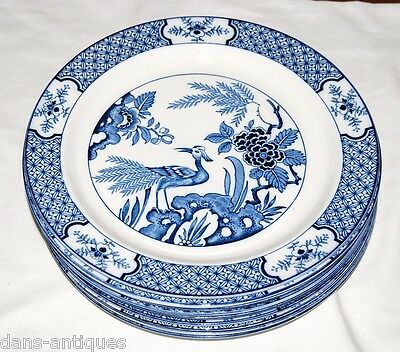 "Wood & Sons England YUAN china  - 9 dinner plates 10"" diameter"