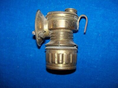 Antique Brass Guys Dropper Shanklin Coal Mine Mining Carbide Lamp Light