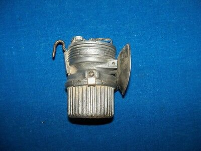 "Scarce Antique Fred R Belt ""luminum"" Coal Mine Mining Carbide Lamp Light"