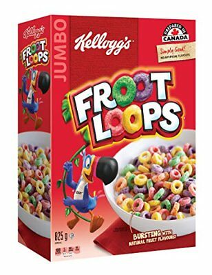 Kellogg's Froot Loops Cereal 825g Jumbo Size
