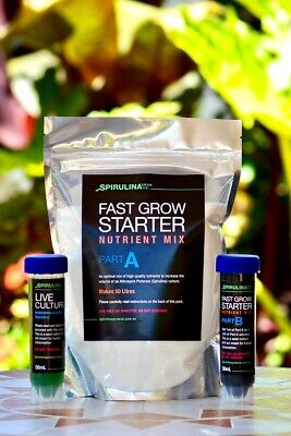 Live Spirulina culture and starter nutrient pack (50ml) - Grow you own