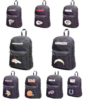 NFL BACKPACK SPRINT BLACK NEW W/ TAGS NEW GYM, STUDENT BAG You Select the Team