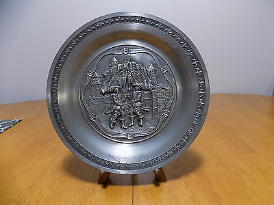 Vintage Vogel Pewter German Decorative Plate / Germany