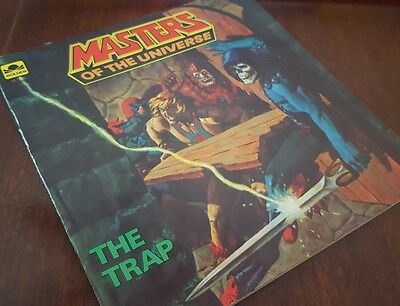 1983 Masters of the Universe The Trap  golden  book paperback vintage He-Man