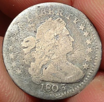 1803 Draped Bust Half Dime Large 8 Variety Tough Early H10C