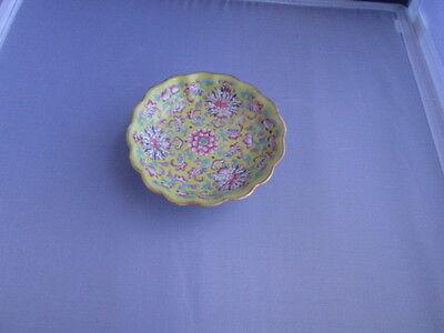 Tongzhi yellow footed dish/bowl