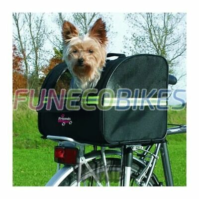 TRIXIE Dog Bicycle Biker Carrier Cat Puppy Small Pet Basket Travel Black 13112