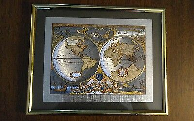 Gold and Silver Map of the World