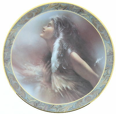 BRADFORD EXCHANGE The Promise Porcelain Native Beauty Collection Collector Plate