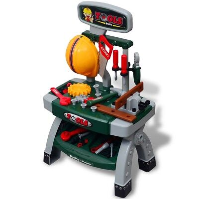 Kids Children Boy Toy Workbench DIY Building with Tools Pretend Play Playroom