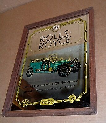 ROLLS ROYCE 1907 SILVER GHOST Automobile Mirror Picture Old Car