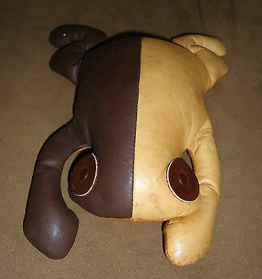 VINTAGE MUNDI Leather Turtle Decor Hand Crafted BRAZIL 2 tone BROWN