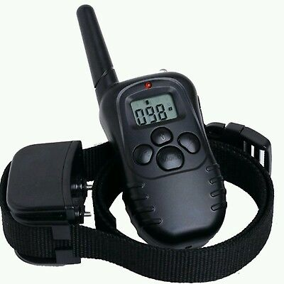 Rechargeable Electric Shock Dog E-Collar Remote Control Training Anti-Bark Kit!