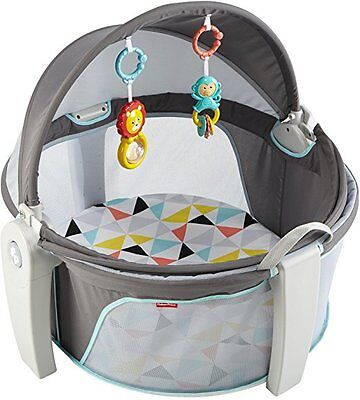 Go Baby Dome White Two Functions Play Space Comfy Napping Spot Canopy Fabric NEW