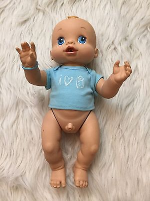 2006 Baby Alive Boy Wet & Wiggle Anatomically Correct Doll WORKING