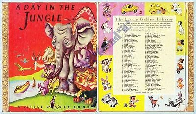 LITTLE GOLDEN BOOK SYDNEY : A DAY IN THE JUNGLE #20 : 1940's : HC : VGC