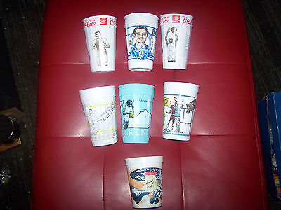 Lot of Vintage Kentucky Wildcats Basketball Plastic Cups!! Rupp Arena! U of K!