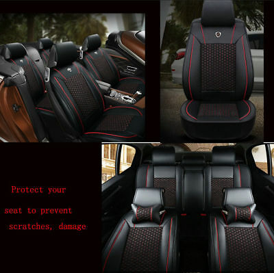IceSilk Leather Car cushion pad seat cushion general full surrounded 5seat cover