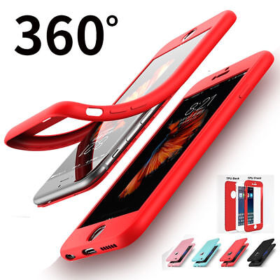 360 Full Body  Soft TPU Case Cover Shockproof for iPhone 6s 7 8 Plus X XR XS Max