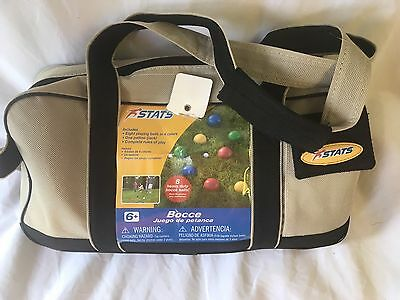 Toys R Us Traditional Bocce Ball Yard Game Set And Case Pouch NWOT