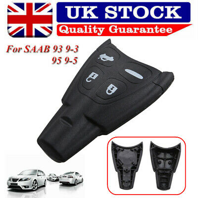 4B Key Case For SAAB 93 95 9-3 9-5 Remote Fob Shell Blank Cover RUBBER PAD Kit