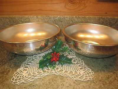 """Set of 2 Silver Plate 8.75"""" Serving Bowls by  English Silver Mfg Corp USA!"""