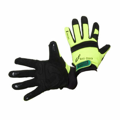 Gloves MSA Hi Viz Mechanics Anti-Vibration Work Gloves 10 Pack Trade Quality