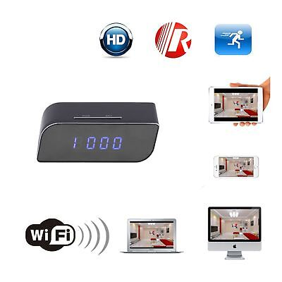 Neu Cam HD 720P Wireless Wifi IP Camera Motion Security Alarm Clock IR UP