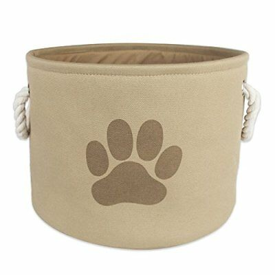 Bone Dry Dii Pet Toy and Accessory Round Storage Basket Taupe 9 X 12-Inch