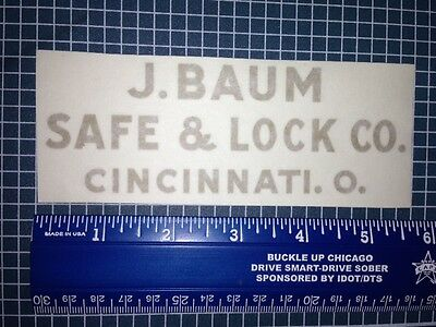 J Baum Safe and Lock Co .Decal/Sticker, Lettering
