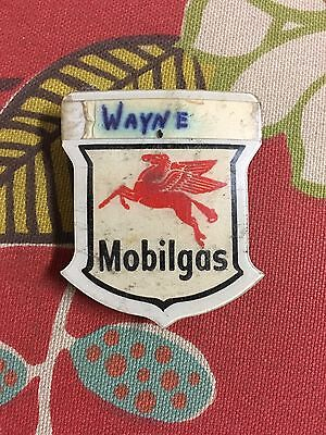 Vintage mobilgas Pegusus Logo employee Badge and other items lot