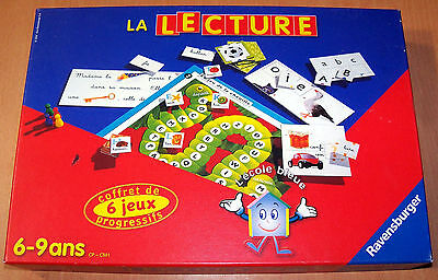 Ravensburger La Lecture French Reading Game - Ages 6-9 - Homeschool - EUC